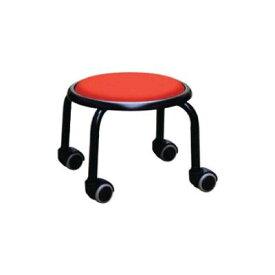 低い 椅子 ローチェア 作業椅子 キャスター付き ガーデニング オフィスチェア キッチン ローキャスター レッド/ブラック