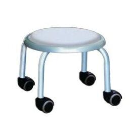低い 椅子 ローチェア 作業椅子 キャスター付き ガーデニング オフィスチェア キッチン ローキャスター ホワイト/シルバー