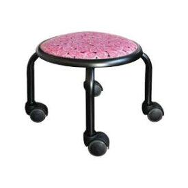 低い 椅子 ローチェア 作業椅子 キャスター付き ガーデニング オフィスチェア キッチン ローキャスター ローズ/ブラック