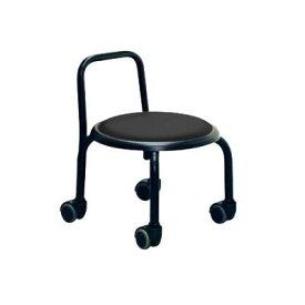 低い 椅子 ローチェア 作業椅子 キャスター付き ガーデニング オフィスチェア キッチン 背もたれ ローキャスターチェア ブラック/ブラック