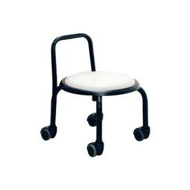 低い 椅子 ローチェア 作業椅子 キャスター付き ガーデニング オフィスチェア キッチン 背もたれ ローキャスターチェア ホワイト/ブラック