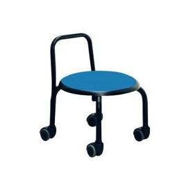 低い 椅子 ローチェア 作業椅子 キャスター付き ガーデニング オフィスチェア キッチン 背もたれ ローキャスターチェア ブルー/ブラック