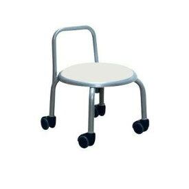 低い 椅子 ローチェア 作業椅子 キャスター付き ガーデニング オフィスチェア キッチン 背もたれ ローキャスターチェア ホワイト/シルバー