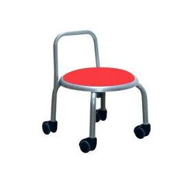 低い 椅子 ローチェア 作業椅子 キャスター付き ガーデニング オフィスチェア キッチン 背もたれ ローキャスターチェア レッド/シルバー