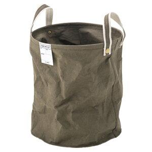 洗濯カゴ ランドリーバスケット 洗濯かご スリム 一人暮らし 低い 持ち運び 大容量 おしゃれ 北欧 コンパクト 収納 通気性 ラック 細い 洗濯物入れ 薄型 薄い カーキ グリーン 緑 約 幅35 高さ