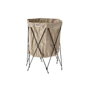 洗濯カゴ ランドリーバスケット 洗濯かご スリム 一人暮らし 低い 持ち運び 大容量 おしゃれ 北欧 コンパクト 収納 通気性 ラック 細い 洗濯物入れ 薄型 薄い ベージュ 約 幅40 奥行41 高さ50