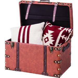 収納 ボックス 2個 椅子 (大のみチェア) スツール チェア オットマン 玄関 ベンチ おしゃれ 北欧 西海岸 レトロ ヴィンテージ アンティーク a4 おもちゃ 箱 かわいい ふた付き 蓋付き 子供 小物