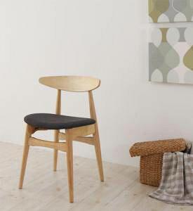 ダイニングチェア 2脚 椅子 おしゃれ 北欧 安い アンティーク 木製 シンプル ( 食卓椅子 ) 座面高47 座面 高め ファブリック 背もたれ シートクッション コンパクト 小さめ モダン スタイリッ