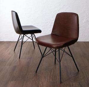 ダイニングチェア 椅子 おしゃれ 北欧 安い アンティーク 木製 シンプル レザー 革 合皮 ( 食卓椅子 1脚 ) 座面高43 座面低め ロータイプ 背もたれ シートクッション アイアン 西海岸 ヴィンテ