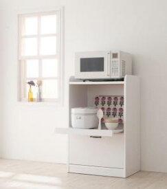 レンジ台 コンパクト ミニ キッチン収納 幅60 ホワイト 白 グリーン 緑