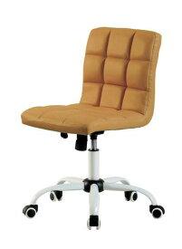 オフィスチェア 事務椅子 キャスター付き椅子 キャスター 椅子 チェア ブラウン 茶色 デスクチェア 肘なし おしゃれ 安い パソコンチェア