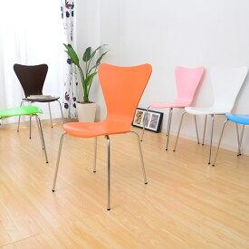 ダイニングチェア 椅子 おしゃれ 北欧 安い 4脚 セット アンティーク カラフル 白 ホワイト 黒 ブラック オレンジ シンプル スタッキング モダン 座面高め デザイナー カフェ PC