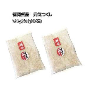 予約 新米 ポイント消化 令和3年産 福岡県産 元気つくし 約 2kg (内容量:1.9kg (950g×2袋) ) 農家直送 送料無料 10月下旬発送予定