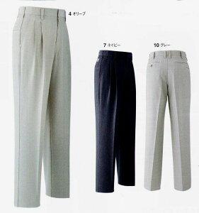 【送料無料】旭蝶繊維NO.E651ツータックパンツ70〜130cmポリエステル85%綿15%秋冬春用作業服(年間物)