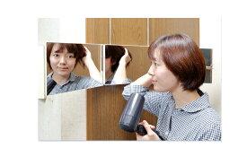 【5,000円以上送料無料】ドアハンガー3面鏡 割れない鏡 姿見 ドアミラー【あす楽対応_関東】smtb-m