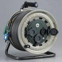 【ハタヤ】 屋外用サンタイガーレインボーリール 50m GX-501K 防雨型 接地・温度センサー付 [コードリール・電工ドラ…