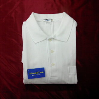 To the reserve of the cotton 100% form stability school polo shirt wisteria bow tie MiracleCare material special plan No741600 attending school, extracurricular activities which there is OK reason in ideally (white student shirt / school gym suit / schoo