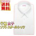 【送料無料】スクールシャツ 半袖 女子 ナチュラルソフト 形態安定性もなかなか No5500(学生服/レディースシャツ/白/…