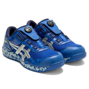 アシックス asics 安全靴 BLUE Boaウィンジョブ 限定品