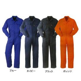 作業着 作業服 DON 111 ツナギ服 5L・オレンジ33[作業服から事務服まで総アイテム数10万点以上!][綺麗で丁寧な刺しゅう職人の店]