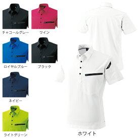 作業服 オールシーズン 藤和 81355 ESワークニットショートポロシャツ SS〜LL