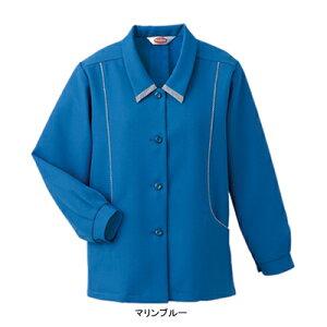 作業着 作業服 ベスト BS2616 パイピングスモック XL・マリンブルー[作業服から事務服まで総アイテム数10万点以上!][綺麗で丁寧な刺しゅう職人の店]