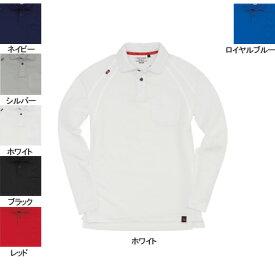 バートル BURTLE 103 長袖ポロシャツ L ホワイト29 作業着 作業服 ポロシャツ