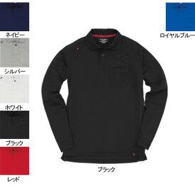 バートル BURTLE 103 長袖ポロシャツ M ブラック35 作業着 作業服 ポロシャツ