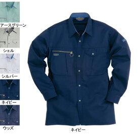 バートル BURTLE 9023 長袖シャツ L ネイビー3 作業着 作業服 シャツ