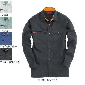 バートル BURTLE 6033 長袖シャツ LL チャコールブラック37 作業着 作業服 シャツ