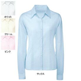 事務服・制服・オフィスウェア ヌーヴォ FB7532 ブラウス(長袖) 15号・サックス3