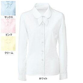 事務服・制服・オフィスウェア ヌーヴォ FB7547 ブラウス/リボン2つ付(長袖) 9号・ホワイト1