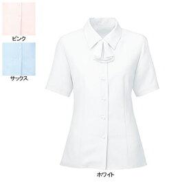 事務服・制服・オフィスウェア ヌーヴォ SB7003 ブラウス/リオン付(半袖) 19号・ホワイト1
