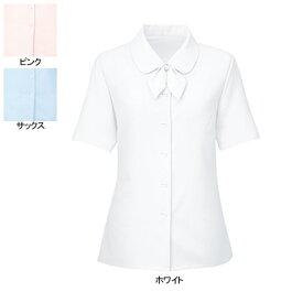 事務服・制服・オフィスウェア ヌーヴォ SB7004 ブラウス/リオン付(半袖) 7号・ホワイト1