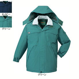 作業着 作業服 防寒着 防寒服 自重堂 48263 エコ防水防寒コート(フード付) XL・グリーン012