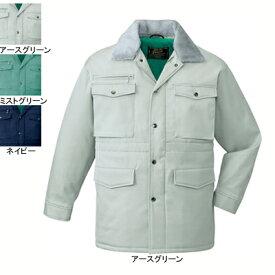 作業着 作業服 防寒着 防寒服 自重堂 7800 防寒コート(フード付) XL・アースグリーン039