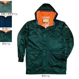 作業着 作業服 防寒着 防寒服 自重堂 48013 ダブルライナー防寒コート(フード付) L・グリーン012