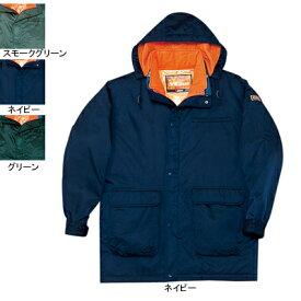 作業着 作業服 防寒着 防寒服 自重堂 48013 ダブルライナー防寒コート(フード付) XL・ネイビー011