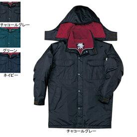 作業着 作業服 防寒着 防寒服 自重堂 48163 防水防寒コート(フード付) XL・チャコールグレー048