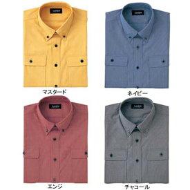 作業着 作業服 サンエス JB55031 男女兼用長袖シャツ(全4色) L・マスタード10