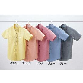作業着 作業服 サンエス JB55040 男女兼用半袖シャツ(全5色) LL・イエロー10