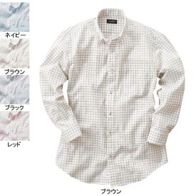 作業着 作業服 サンエス JB55541 メンズ長袖シャツ(全4色) L・ブラウン89