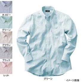 作業着 作業服 サンエス JB55051 メンズ長袖シャツ(全5色) S・ブラウン87