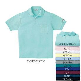 作業着 作業服 サンエス AG10060 エコ半袖ポロシャツ(全11色) 5L・パステルグリーン17