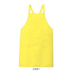 作業着 作業服 サンエス A605 エプロン(全9色) フリー・イエロー10