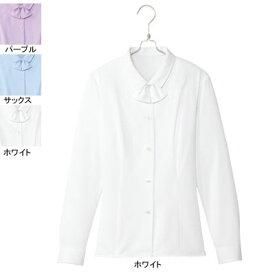 事務服・制服・オフィスウェア ピエ B2701-01 長袖ブラウス 19号・ホワイト