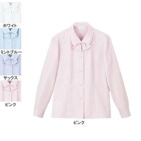事務服・制服・オフィスウェア ピエ B2601-38 長袖ブラウス 5号〜15号