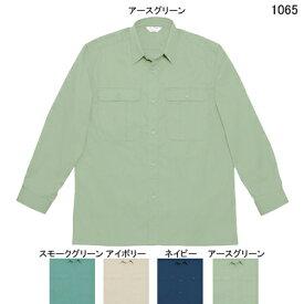 作業着 作業服 自重堂 1065 製品制電長袖シャツ L・アースグリーン039