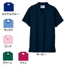 医療白衣・介護服 WHISeL 自重堂 WH11485 男女兼用スクラブ SS〜4L
