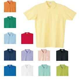 医療白衣・介護服 WHISeL 自重堂 17 半袖ポロシャツ S〜4L
